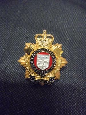Genuine Current Issue Queen's Crown Royal Logistic Corps RLC Officer's Cap Badge