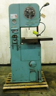 "Doall, Vertical Band Saw, Model Ml, 20"" Table, Serial 8451459C"