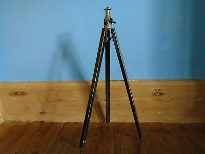 Vintage Photographic Tripod. Wood and Metal.