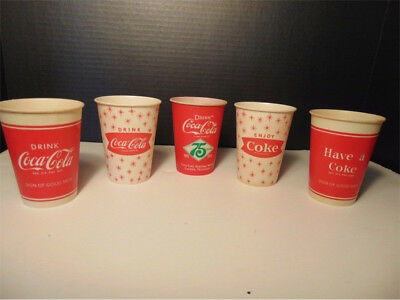 5 Vintage Coca-Cola Cups ... 2 Snowflake, 2 Have A Coke & 1 75th Anniversary