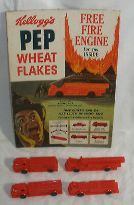Kelloggs Cereal Vintage 1956 Fire Truck cereal Premium with box advertising