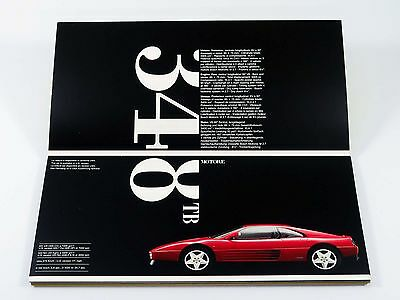 Ferrari 348 F40 512 Mondial Sales Brochure Catalog 1992 MINT
