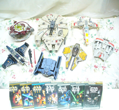 Transformers Crossovers Star Wars Millenium Falcon Han Solo Chewbacca parts DVDs