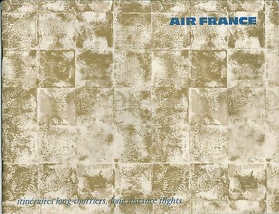 Air France Logbook Bordbuch brochure 1968 aéronautique carte itinéraire aviation