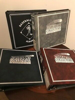 4 Count Lot Sports Card 3 D-Ring Binders Bcw Others Pictured Gently Used Nice