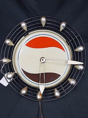 Vintage 1950's Art Deco Modern Pepsi Cola Tear Drop Clock