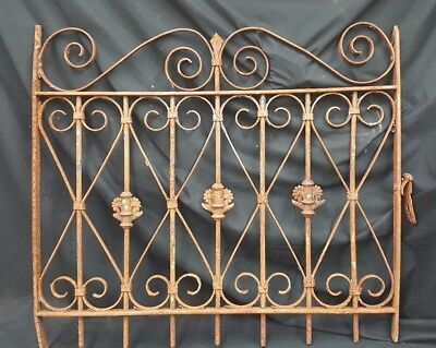 Architectural Salvage Wrought Iron Floral Bouquet Window Grate Fence Panel