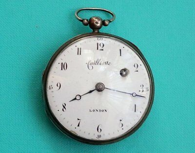 SILBER SPINDEL TASCHENUHR  Abraham Cailliatte (1642–1710)  London  Pocket Watch