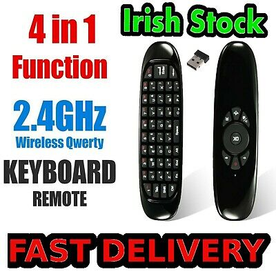 Mouse Remote Air Wireless Keyboard Tv 2 Box Android Fly 4ghz Pc Control Smart TV