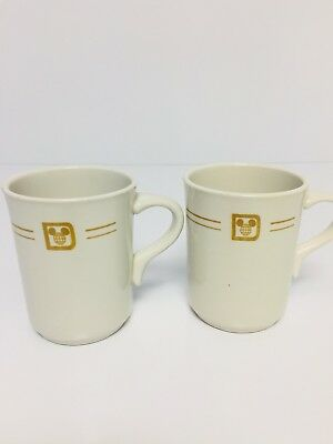 Vtg Walt Disney Mayer China Co Beaver Falls PA Set  Of 2 Coffee Cups