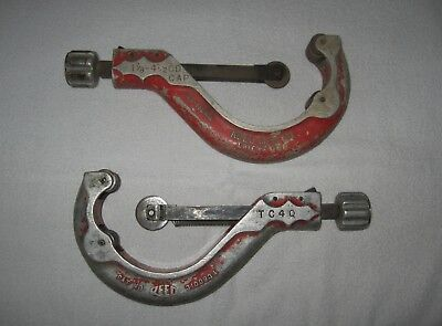 2 Vintage Reed Manufacturing TC4Q Tubing Cutters 1 7/8-4 1/2 OD Capacity