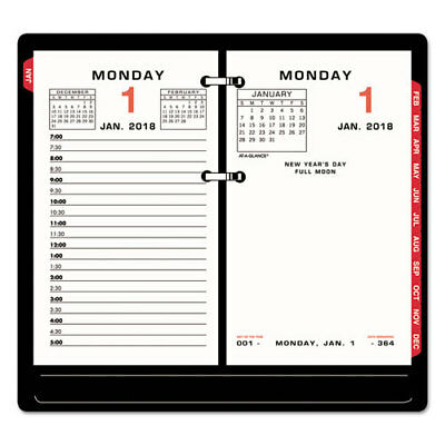 AT-A-GLANCE Two-Color Desk Calendar Refill, 3 1/2 x 6, 2018
