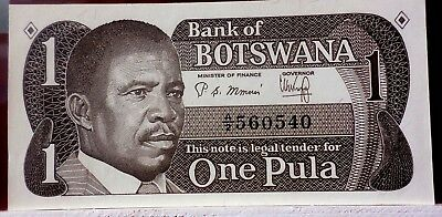 1983 1Pula from Botswana P 6a Uncirculated Bank Note C-026