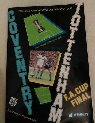 COVENTRY v TOTTENHAM - FA CUP FINAL - PROGRAMME 1987