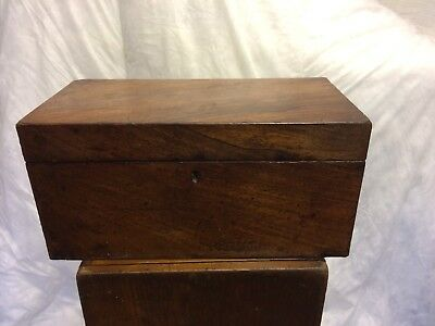 Antique Victorian Tea Caddy With 2 x Internal Boxes