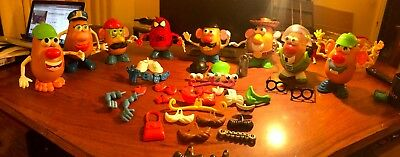 Mr Potato Head Job Lot Bundle Eight Potato Heads and 100 accessories