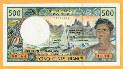 FRENCH PACIFIC TERRITORIES P-1d   500 Francs ND1992 UNC    SCARCE SIGNATURES