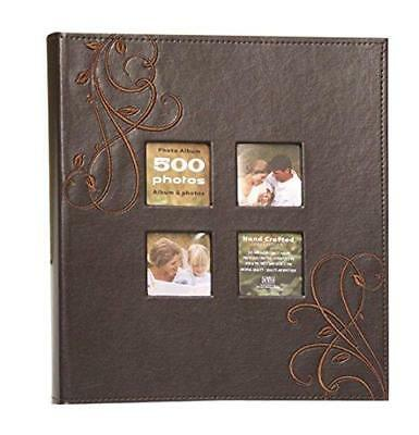 Kleer-Vu Photo Embroidery Leather Collection, Holds 500 4x6 inches Photos, 5 Per