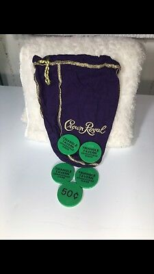 Crown Royal Bag With Tokens, Grangeville, Idaho