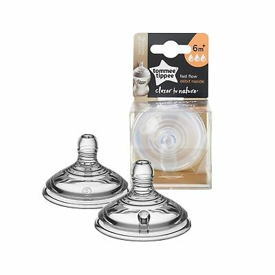 Tommee Tippee Closer To Nature Nipple, 2 Count Fast Flow
