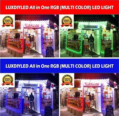 Storefront Window Multi Color RGB Led Lights Strips Plug N Play All in One Kit