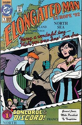 Elongated Man  #1 1992 Dc -Europe '92- ''flash App'' Jones/ Parobeck...vf/vf-