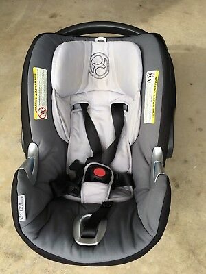 Cybex Aton Q Infant Car Seat with Base Great Condition - Smoke Gray Black