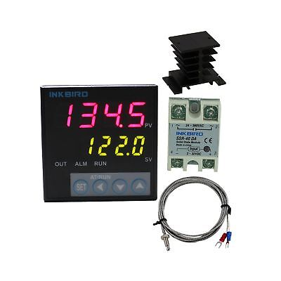Inkbird F Display PID Temperature Controllers Thermostat ITC-106VH, K Sensor,...