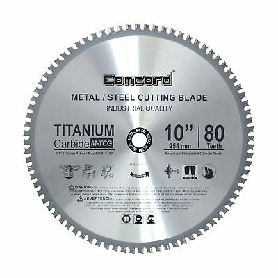 Concord Blades MCB1000T080HP 10-Inch 80 Teeth TCT Ferrous Metal Cutting Blade