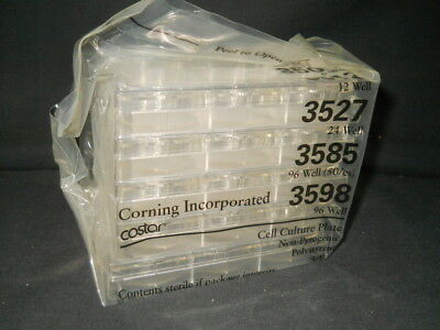 (5) Corning Costar 6-Well Sterile TC-Treated Cell Culture Cluster Plates, 3506