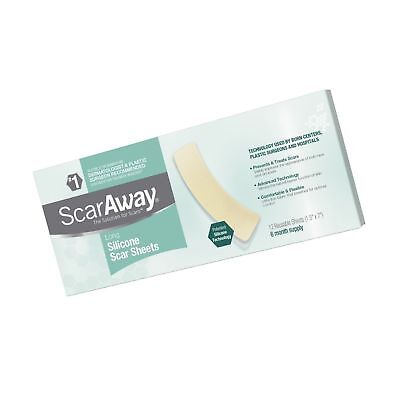 ScarAway Long Professional Grade Silicone Scar Treatment Sheets - 12 Multi-Use A