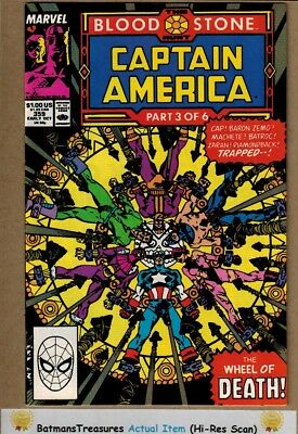 Captain America #359 (9.2) NM- 1st Crossbones Cameo Appearance 1989 Key Issue