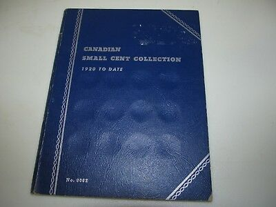 Collection of Canada Canadian small cents 1920 to 1968 in Whitman Coin Book