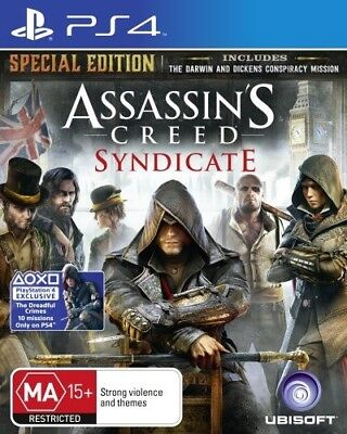 ASSASSINS CREED SYDICATE SPECIAL EDITION Sony Playstation 4 PS4 Game