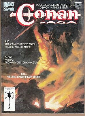 Conan Saga  #73 1993 Marvel B&w -Swords/ Sorcerer-Howard/ Chiodo...fn+