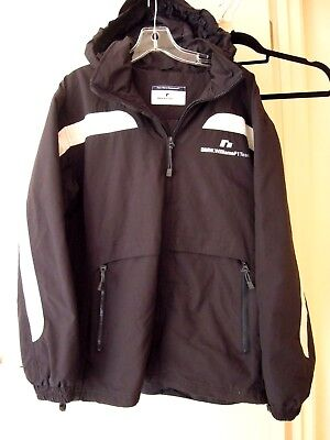 BMW.  WILLIAMS F!  TEAM   Lined   JACKET  with  HOOD   *Size LARGE    Navy