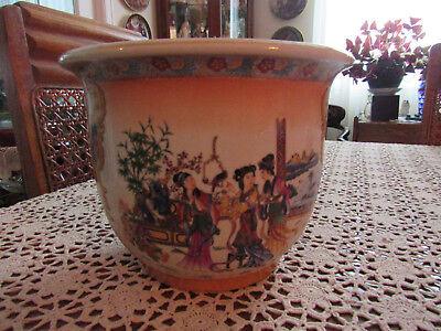 """Asian Japanese or Chinese Planter Jardiniere 7 1/4"""" x 9 1/4"""""""
