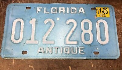 Florida License Plate USA ANTIQUE & US Florida License Plates Automobilia Transportation ...