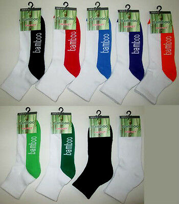 Bamboo 90% 1/4 anklet Sport socks cushion foot  mix colors AAA