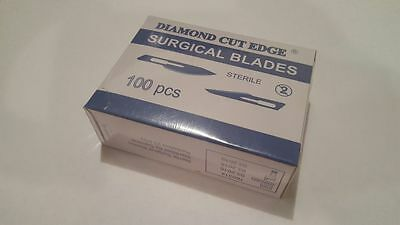 100 Surgical Scalpel Blades #11 Steel Sterile 25kGy Sterility Guaranteed