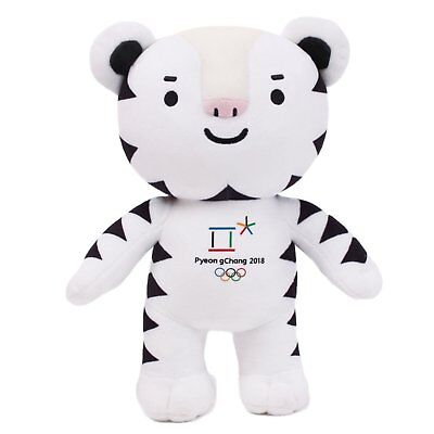 "PyeongChang 2018 Winter Olympic Official Mascot 11"" (30 cm) Doll Soohorang with"
