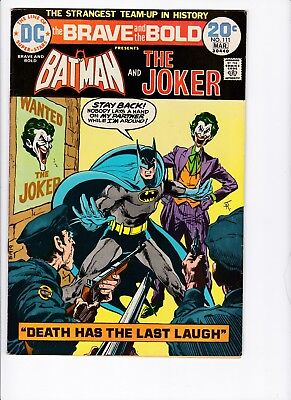 "Brave and The Bold #111 Batman and The Joker!! ""Death Has The Last Laugh!"" VF!!!"