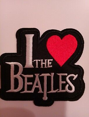"THE BEATLES  FAB FOUR embroidered iron on patch 3.5"" x 3"""