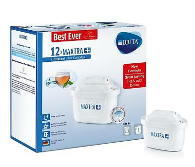 Brita Maxtra+ Water Filter Cartridges, MicroFlow Technology, Pack of 12, White