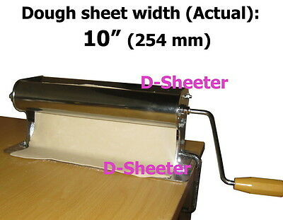 10 inch 254mm Dough roller sheeter Pizza pasta pastry ravioli roti maker machine