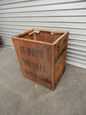 TEA CHEST / TRUNK – ORIGINAL VINTAGE TIMBER TEA CHESTS, 5 IN STOCK, 3i