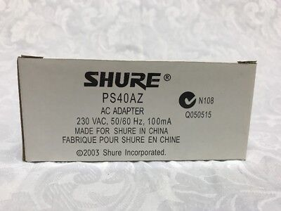 Shure PS40AZ AC adapter 230V 100mA Power Supply