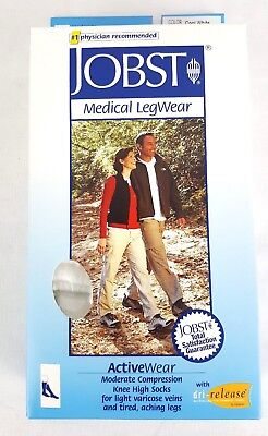 Jobst Medical Legwear 15-20 mmHg Compression ActiveWear Knee High Sock White Med