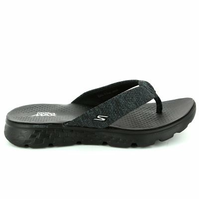 Womens Skechers Thongs Gogamax Footbed Comfort Soft Thongs Cushioned Flip Flop