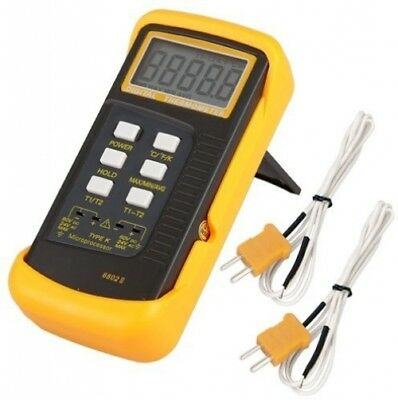 Signstek 6802 II Dual Channel Digital Thermometer with 2 K-Type Thermocouple